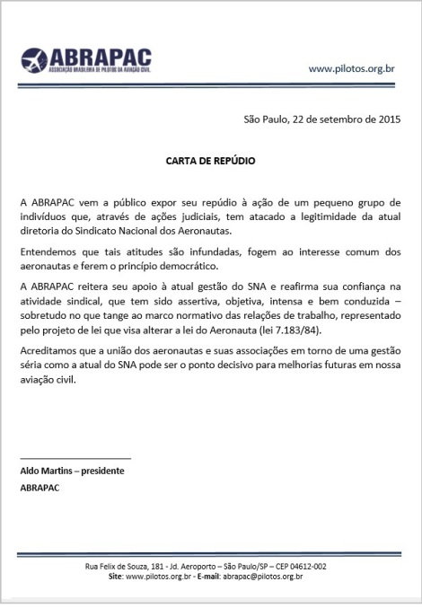 CARTA DE REPÚDIO22