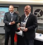 Cmte. Aldo Bien e cmte. Paulo Licati - Entrega do Prêmio ABRAPAC 2018
