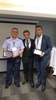 Major Ohtsubo, Cmte. Bertacini e Cmte. Diogo Ribeiro