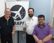 Da esq. p/dir.: Paulo Licati, Mário Amato e Cláudio Lucchesi