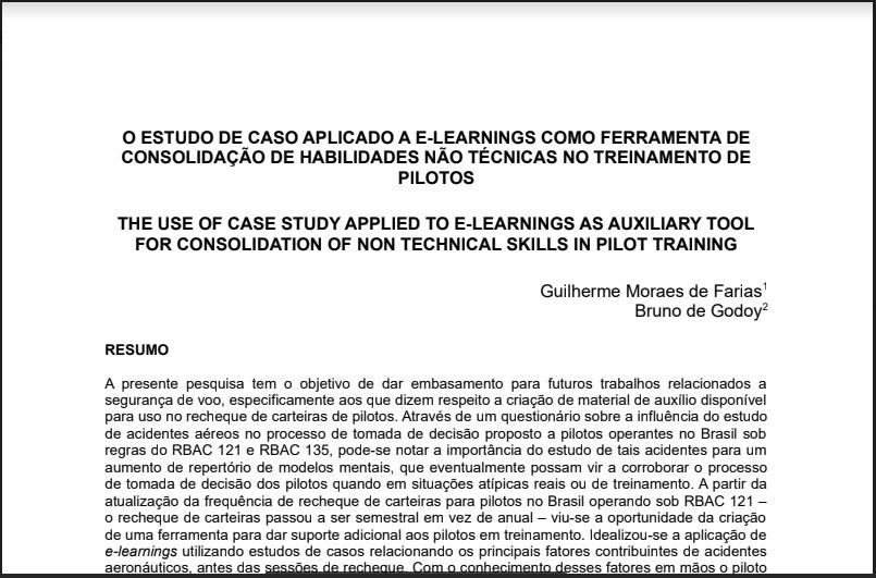 ESTUDO DE CASO APLICADO A E-LEARNINGS